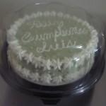 Cake clasico grande con icing y manjar de la casa