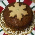Cake de frutas navideño con galleta