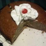 Cake de guineo con nueces molidas