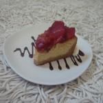 Slice de cheesecake de fresas