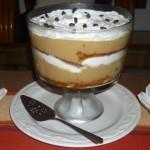 Trifle copa grande en crema con cafe