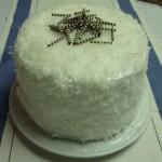 Cake en icing de coco